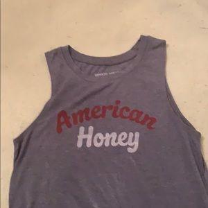 blue american honey pj/lounge top